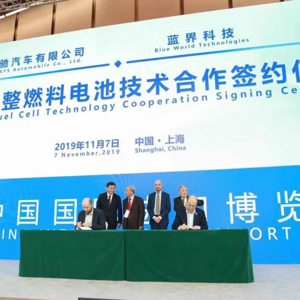 Anders Korsgaard (left) and Fu Qiang (right) sign Strategic Cooperation Agreement